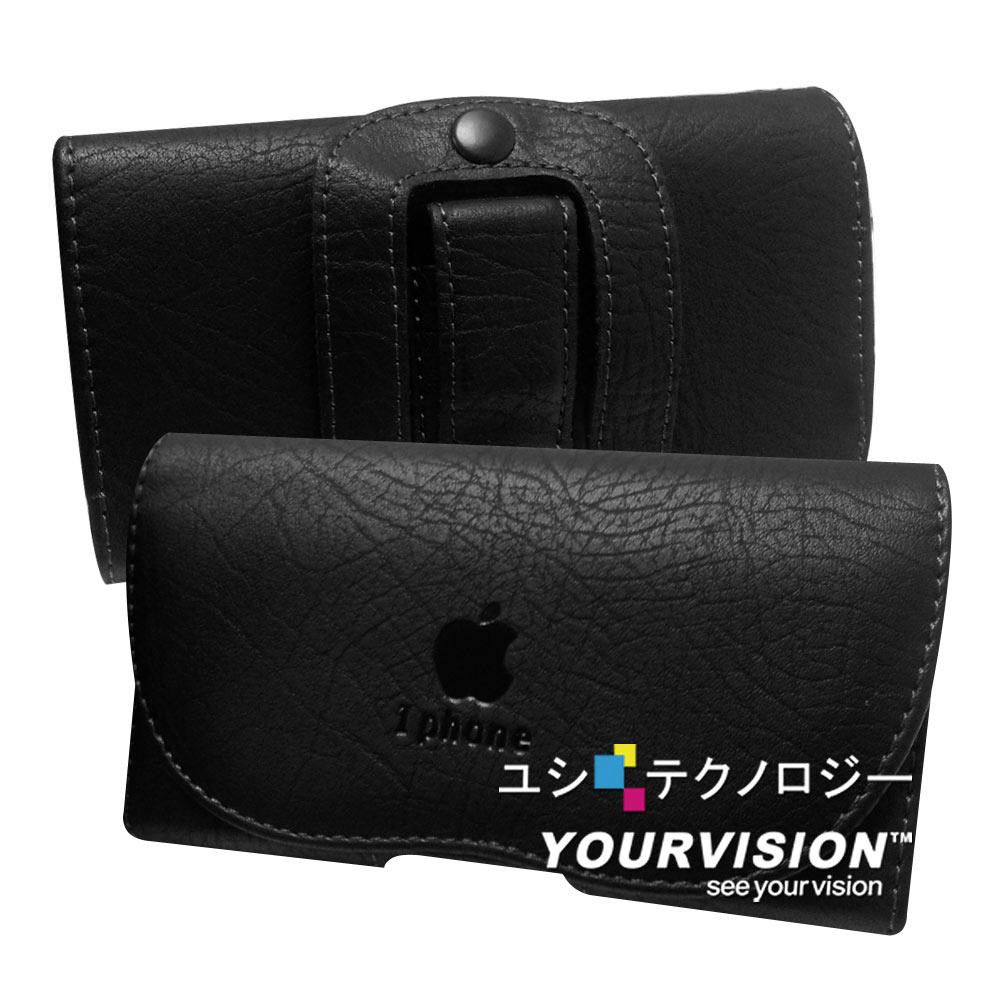 iPhone5/5S/SE 典雅風腰掛全包覆隱形磁扣皮套
