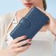 2R 葛瑞絲Grace梭織羊皮壓釦長夾 寶石藍 product thumbnail 1