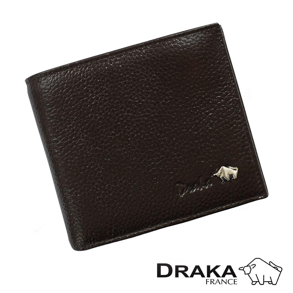 DRAKA 達卡 - 皮夾/短夾/男用皮夾 庫爾真皮系列 - 44DK2725-2