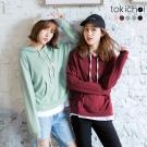 東京著衣 多色休閒系列連帽上衣-S.M(共五色)