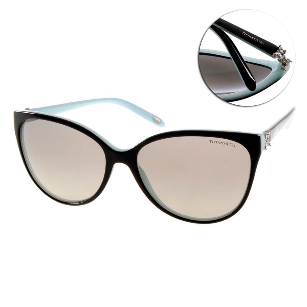 Tiffany&CO.太陽眼鏡 立體雕花貓眼款/黑-蒂芬尼藍#TF4089B 8055