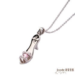 J'code真愛密碼 迷戀高跟鞋純銀墜子 送白鋼項鍊