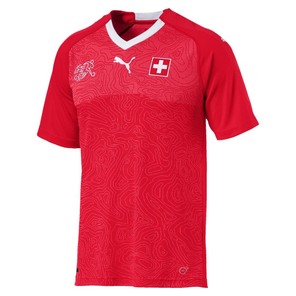 PUMA-足球系列國家概念短袖球衣-瑞士(M)