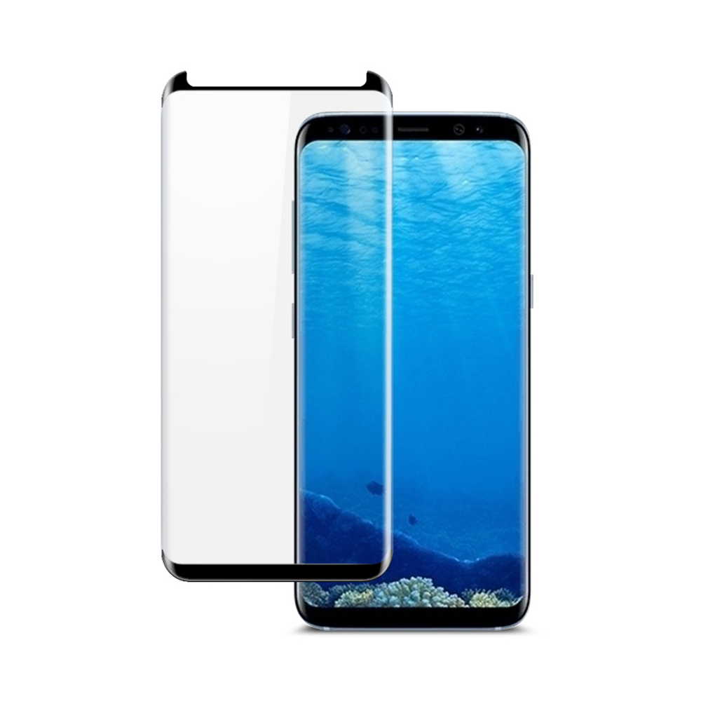 Samsung Galaxy S9 Plus內縮版3D曲面全版膠鋼化玻璃膜-酷炫黑