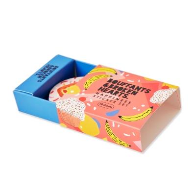 7321 Design幸福塗鴉火柴盒裝飾圓貼組-BBH