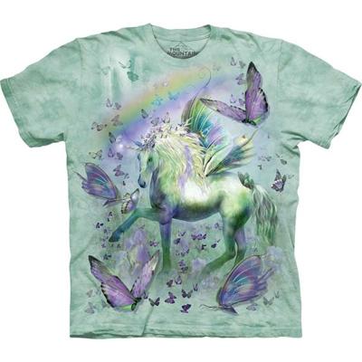 摩達客美國進口The Mountain獨角獸與蝴蝶純棉短袖T恤