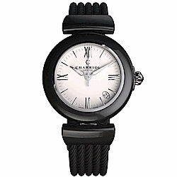 CHARRIOL夏利豪 AEL天使系列陶瓷腕錶-黑33mm