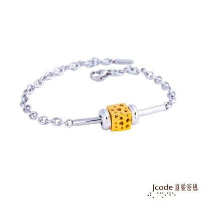 J code真愛密碼金飾 愛情世界黃金/純銀/白鋼手鍊