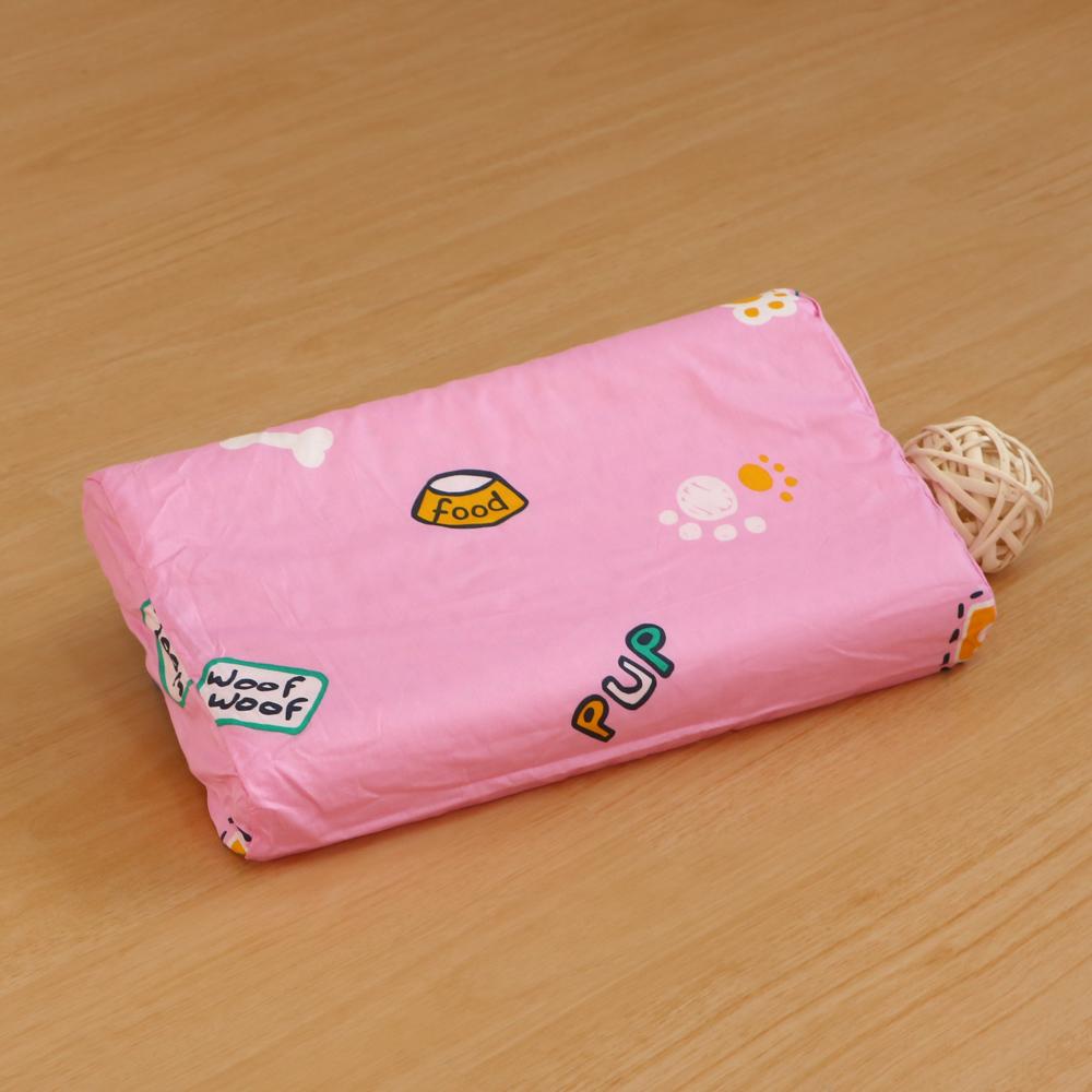 鴻宇HongYew 防蹣抗菌幼童乳膠枕 歡樂腳印-美國棉