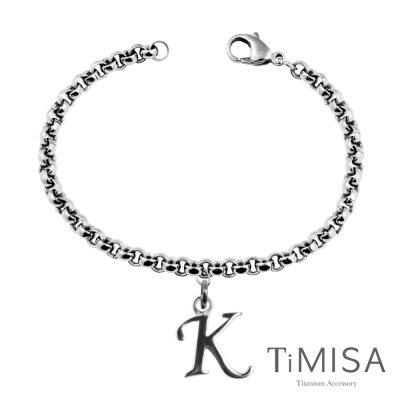 TiMISA《字母之戀》純鈦手鍊