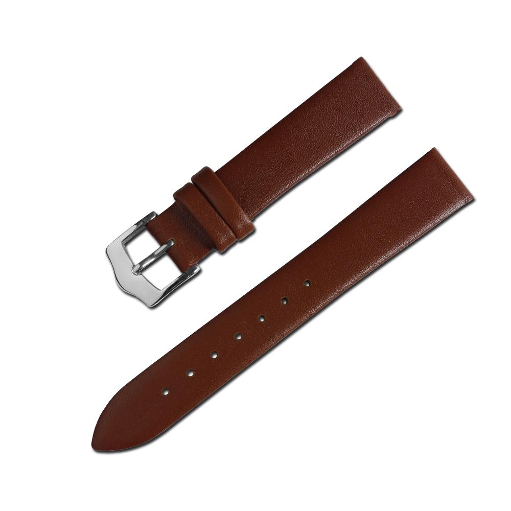 Watchband / 超薄簡約質感別緻舒適真皮錶帶 棕