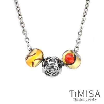 TiMISA 玫瑰花語 純鈦串飾 項鍊