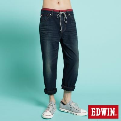 EDWIN AB褲 大尺碼迦績褲JERSEYS圓織牛仔褲-男-原藍磨