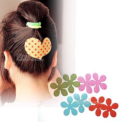 日本kiret 點點造型瀏海貼-花朵款4入