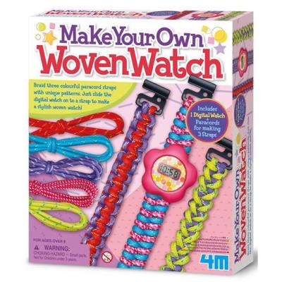 4M美勞創作 - 編織絢麗錶帶