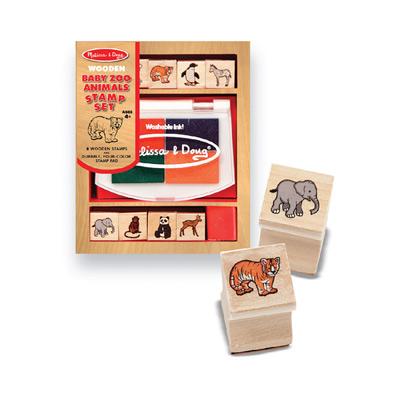 美國瑪莉莎 Melissa & Doug 木製印章組 - Baby 動物園
