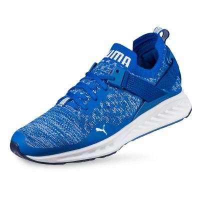 PUMA-IGNITE evoKNIT Lo 男性慢跑運動鞋-寶石藍