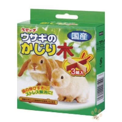 SMACK 寵物兔十字型磨牙木3組