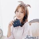 KINAZ 圓舞曲三折式短夾-星空藍-兔子系列