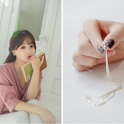梨花HaNA 韓國925銀簡約妝點多層細緻亮銀手鍊