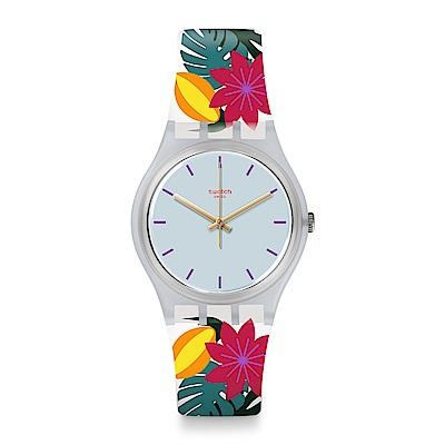 Swatch 英倫風情 PISTIL 風情奔放手錶