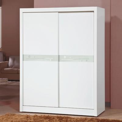 AS-巴德<b>5</b>尺白色衣櫃-149x60x201cm