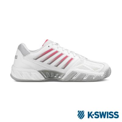 K-Swiss Bigshot light 3輕量專業網球鞋-女-白/珊瑚紅