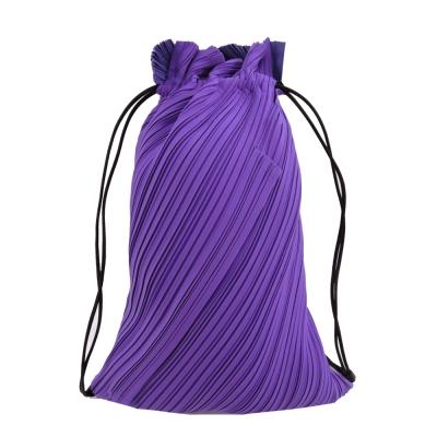 ISSEY MIYAKE 三宅一生 PP系列DRAWSTRING前拉鍊束口後背包(紫)
