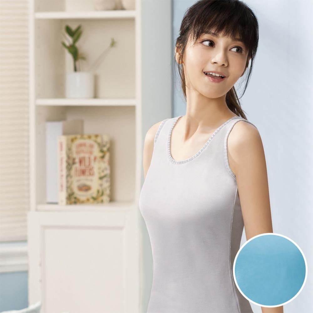 華歌爾-PH5.5酸鹼平衡M-LL無袖背心(都會藍)