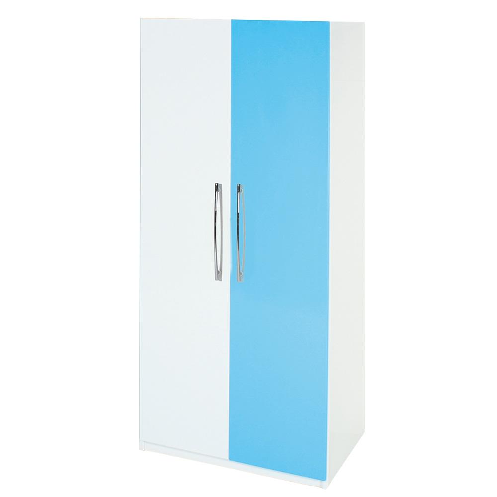 Bernice-防潮防蛀 塑鋼2.7尺單吊衣櫃(九色)-82x63x198cm