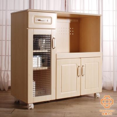 Sato-PURE三宅單抽三門開放食器活動收納櫃-幅88cm