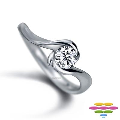 彩糖鑽工坊 19分鑽石戒指 玫瑰花鑽戒   玫瑰Rose系列