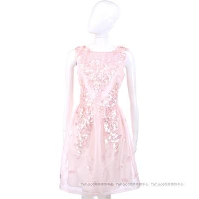 BLUGIRL-Folies 粉色亮片綴飾設計無袖洋裝