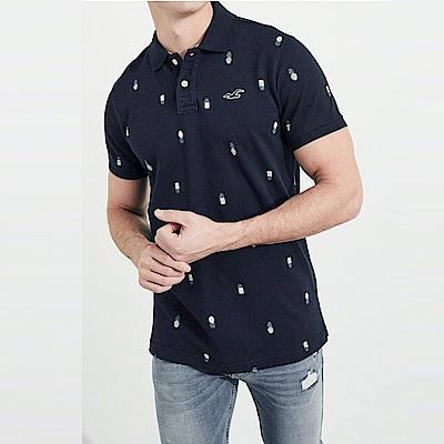 HCO Hollister 海鷗 經典刺繡標誌短袖Polo衫-深藍色