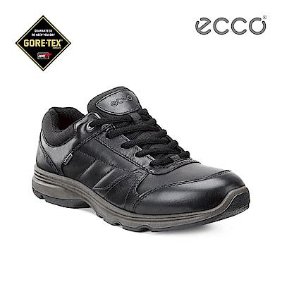 ECCO LIGHT IV 戶外防水綁帶運動鞋-黑