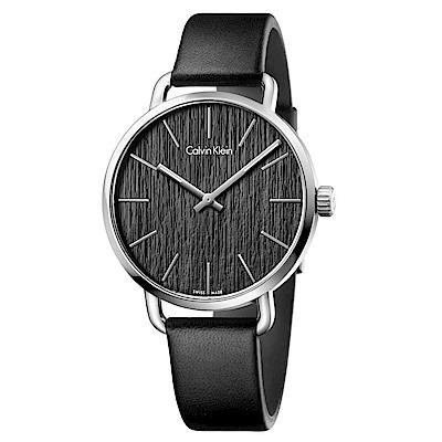 CK CALVIN KLEIN Even 超然系列木質紋黑色面盤手錶-42mm