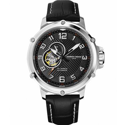 GIORGIO FEDON 1919 義大利經典機械腕錶-黑/45mm