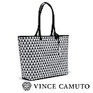 Vince Camuto 時髦感菱格紋肩背包-黑色