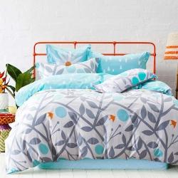 Ania Casa剪影 單人兩件式 柔絲絨美肌磨毛 台灣製 單人床包枕套兩件組