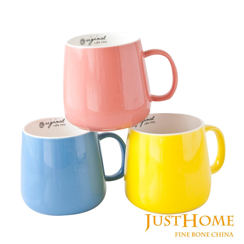 Just Home繽紛原色陶瓷馬克杯3入組360ml(2款可選)