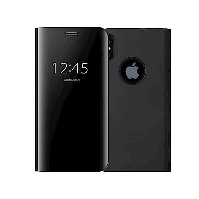 PKG Apple IPhone X 抗震防摔手機殼-側翻鏡面系列
