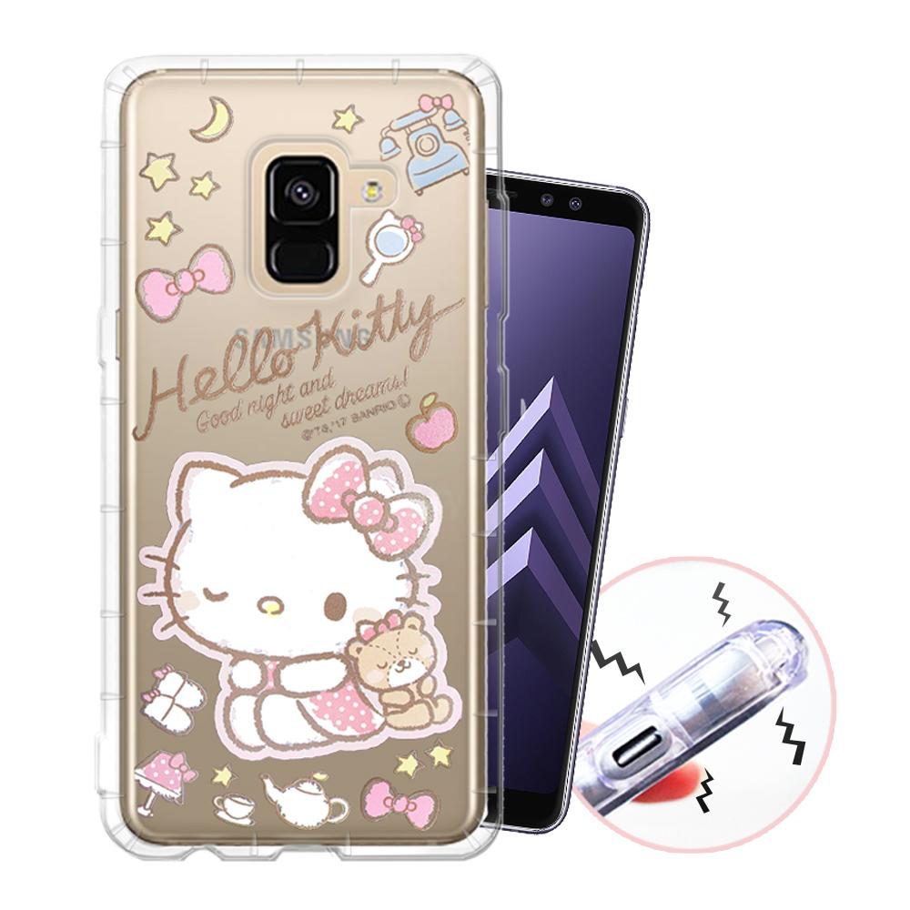 三麗鷗授權 Samsung Galaxy A8(2018) 甜蜜系列彩繪空壓殼(小熊)