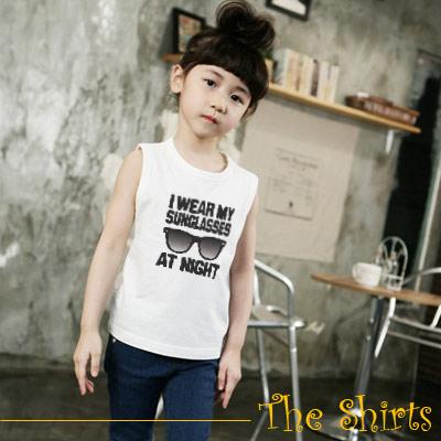 【The Shirts】太陽眼鏡T恤背心 (白色)