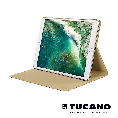 TUCANO iPad Pro 10.5吋髮絲紋可站立式保護套-金