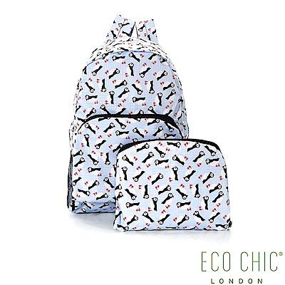 英國ECO CHIC折疊收納後背包-企鵝