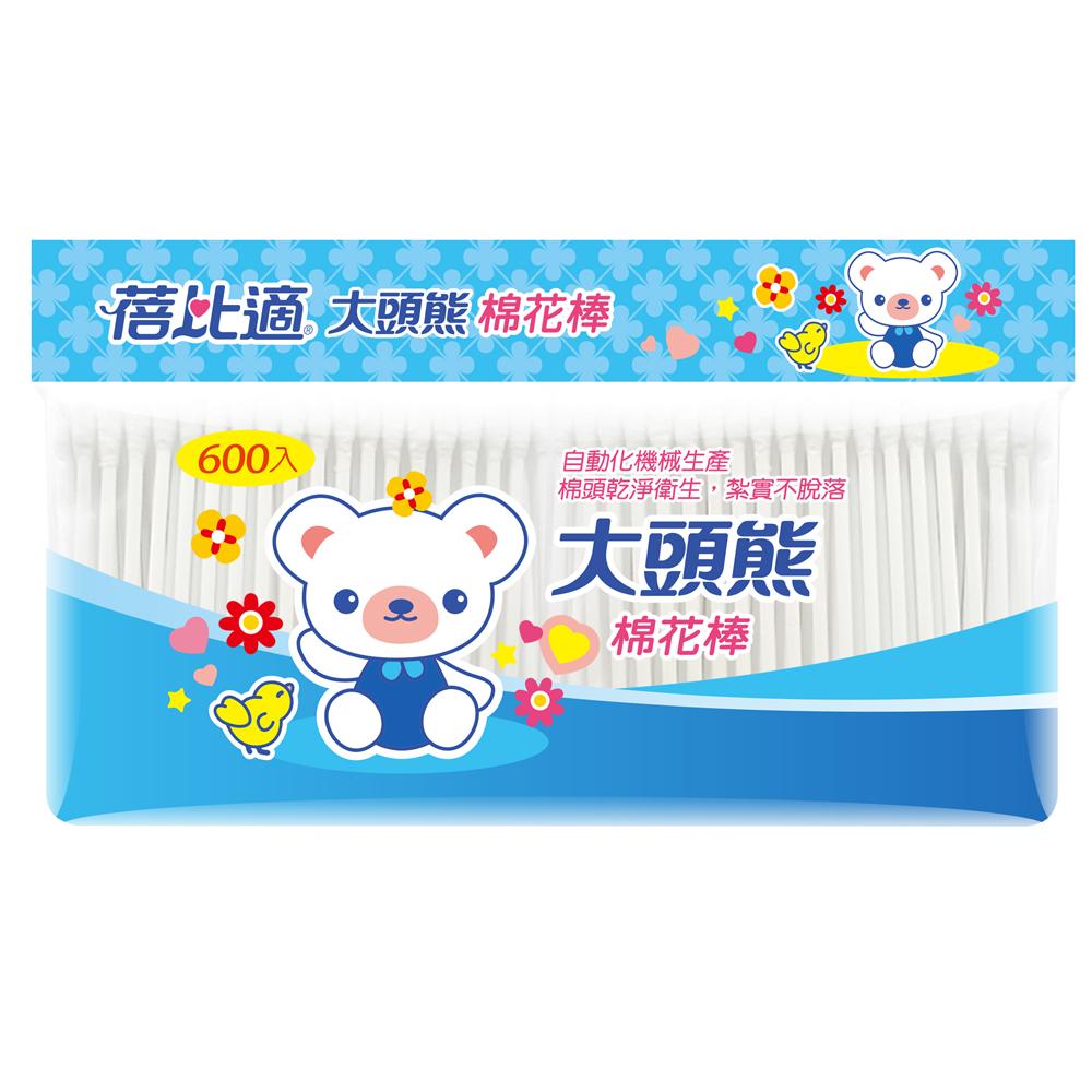 蓓比適 大頭熊清潔棉花棒(6包組)