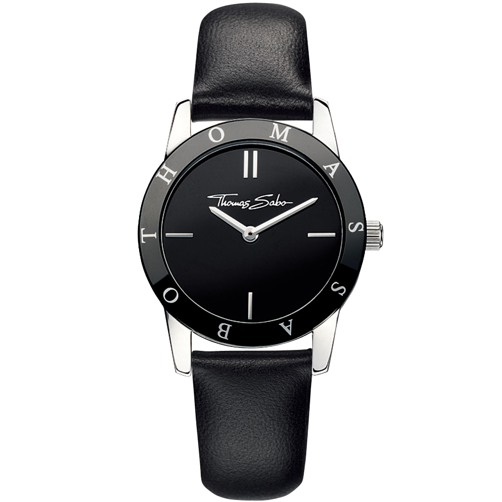 Thomas Sabo Classic 時尚德式腕錶-黑/30mm