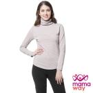 哺乳衣 衛生衣 發熱衣 保暖高領中空紗孕哺衛生衣(共四色) Mamaway