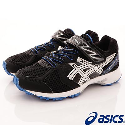 asics競速童鞋 簡約透氣款 EI19N-9093 黑 (中大童段)T#21