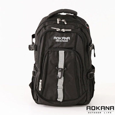 AOKANA奧卡納-舒壓護脊輕量防水中型登山後背包-個性黑-68-001